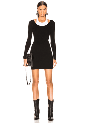 T by Alexander Wang Bodycon Basic Mini Dress in Black & White - Black,White. Size S (also in ).