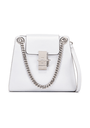 Chloe Small Leather Annie Bag in Light Cloud - Gray. Size all.