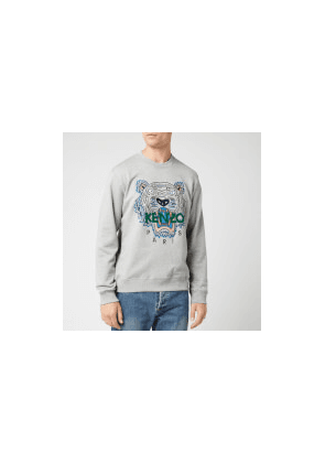 KENZO Men's Classic Tiger Embroidered Sweatshirt - Pearl Grey - S - Grey