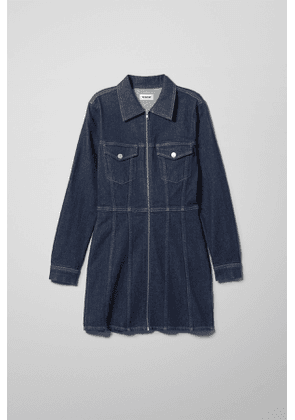 Carol Rinsed Denim Dress - Blue