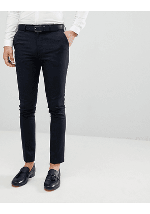 New Look Smart Skinny Trousers In Navy