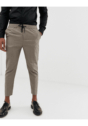 New Look trousers in hounds tooth check