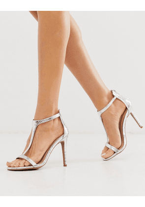 New Look heeled sandals in silver