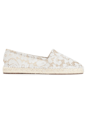 Dolce & Gabbana Corded Lace Espadrilles Woman Off-white Size 37