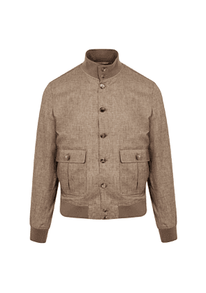 Brown Loro Piana Linen Valstarino Avana Jacket