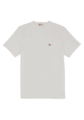 White Cotton Starter-Flag T-Shirt