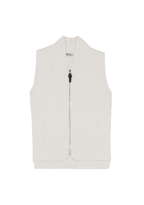 White Cotton Drop-Back Car Vest