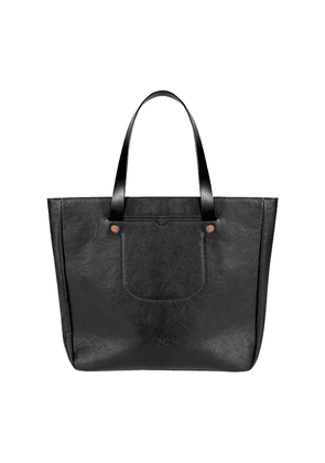 Black Goat Leather Long-Handle Gote Tote