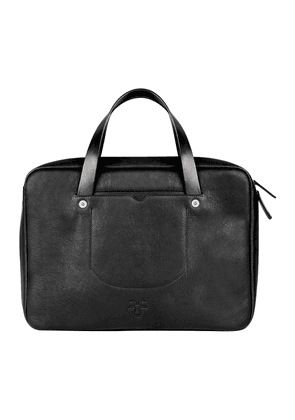 Black Goat Leather Briefcase