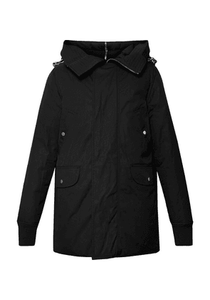 Rick Owens - Cotton-blend Canvas Hooded Down Jacket - Black