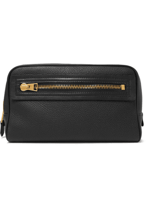 TOM FORD - Full-grain Leather Wash Bag - Black