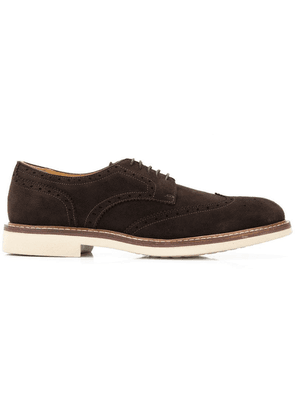 Corneliani perforated style shoes - Brown