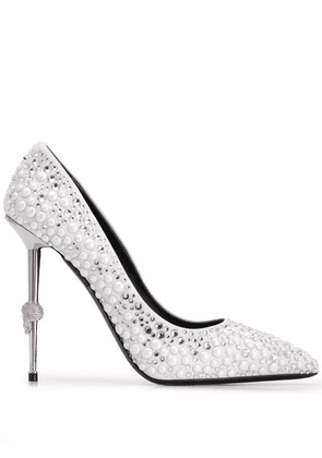 Philipp Plein Decollete pointed pumps - White
