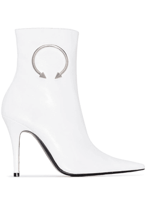Dorateymur Panther 110mm ankle boots - White