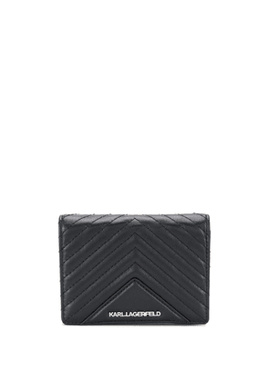 Karl Lagerfeld quilted fold wallet - Black