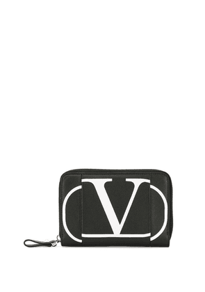 Valentino V logo zip-around purse - Black