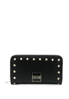 Versace studded logo patch wallet - Black