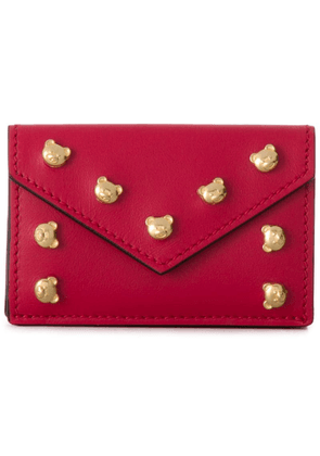 Moschino teddy bear motif wallet - Red