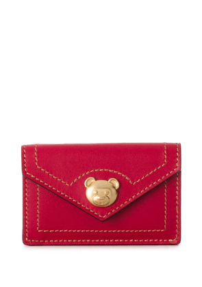 Moschino teddy bear appliqué wallet - Red