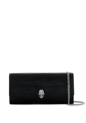 Alexander McQueen chain leather skull motif wallet - Black