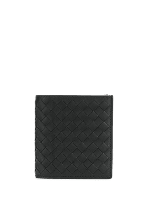 Bottega Veneta intrecciato weave leather wallet - Black