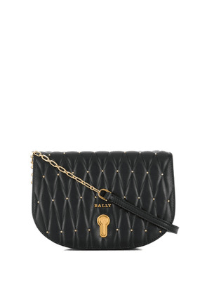 Bally quilted logo crossbody bag - Black