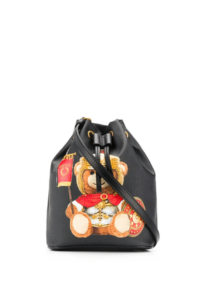 Moschino Roman teddy bear bucket bag - Black