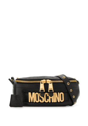 Moschino logo leather belt bag - Black