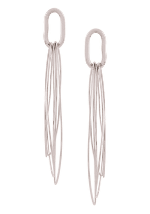 Isabel Marant geometric drop earrings - Metallic