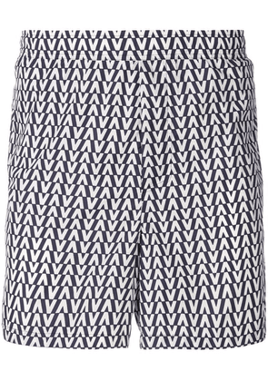 Valentino printed swim shorts - Blue
