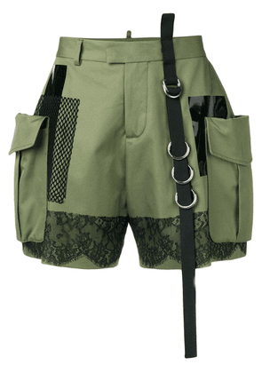 Dsquared2 high-waisted cargo shorts - Green