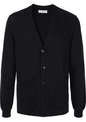 Gieves & Hawkes embroidered logo cardigan - Blue