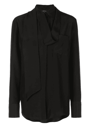 Barbara Bui scarf detailed shirt - Black