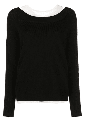 Barbara Bui v-neck layered jumper - Black