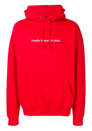 F.A.M.T. Usually Dressed In Black hoodie - Red