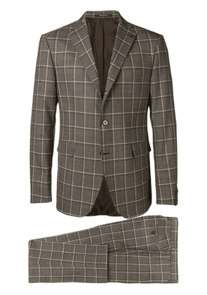 Tagliatore checked formal suit - Brown