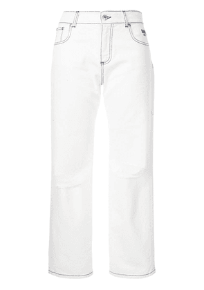 MSGM ripped jeans - White