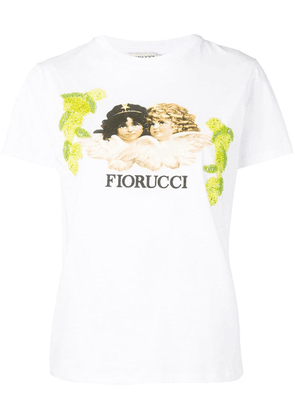 Fiorucci lemon embroidery Angels T-shirt - White