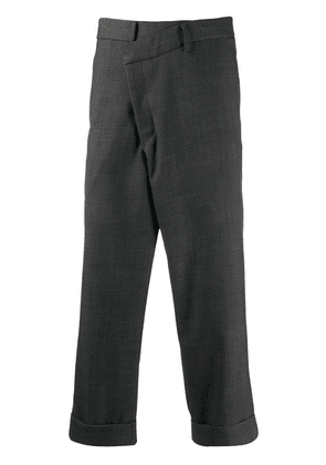 R13 houndstooth check cropped trousers - Grey