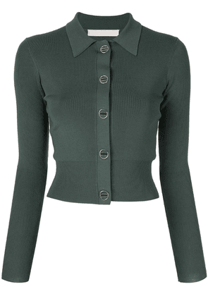 Dion Lee cropped fitted cardigan - Green