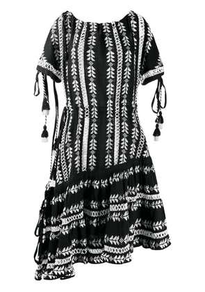 Dodo Bar Or embroidered print dress - Black