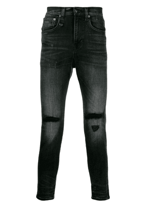 R13 ripped detail jeans - Black