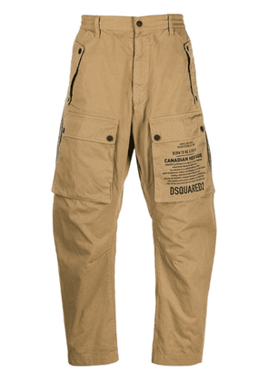 Dsquared2 script print utility trousers - Brown