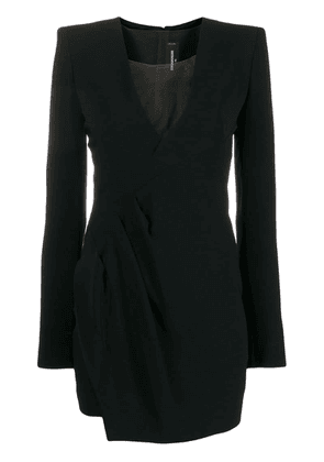 Dsquared2 evening dress with structured shoulders - Black