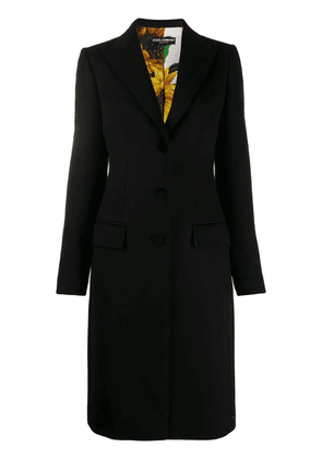 Dolce & Gabbana single-breasted fitted coat - Black