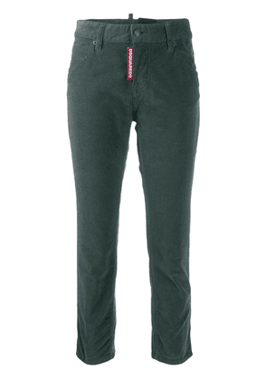 Dsquared2 cropped corduroy trousers - Green