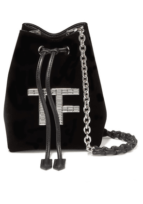 TOM FORD - Mini Crystal-embellished Velvet Bucket Bag - Black