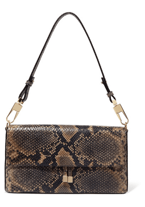 Chylak - Flap Snake-effect Leather Shoulder Bag - Snake print