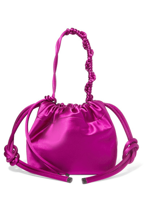 Dries Van Noten - Satin Bucket Bag - Magenta
