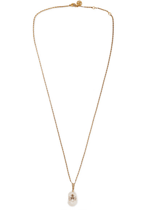 Alexander McQueen - Gold-tone, Faux Pearl And Swarovski Crystal Necklace - White